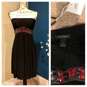 White House Black Market black beaded dress